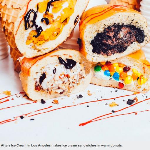 アイス × ドーナツ の『ミルキーバン』