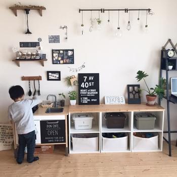 おしゃれな子供部屋も。子供のために小さいキッチン