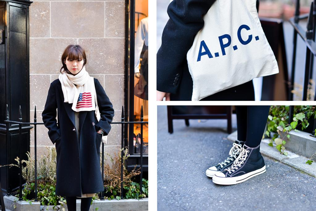 色々なコーデに合わせやすい『A.P.C(アーペーセー)』のトートバッグ