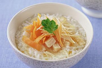 ホタテ缶+おかゆ アレンジレシピ