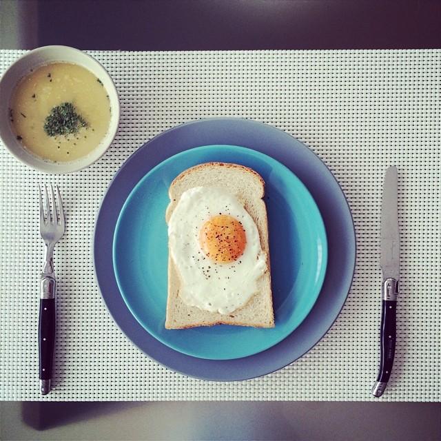 おしゃれな朝食から一日を始めてみる。
