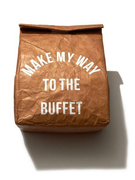 お弁当箱などを入れるペーパー保冷バッグ