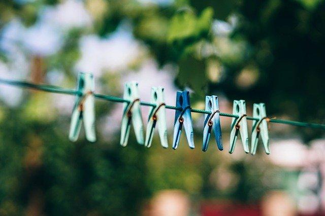洗濯物同士の間隔を空ける