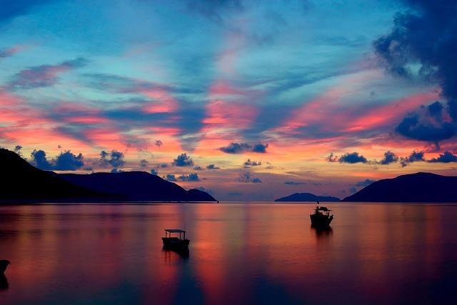 夕焼けの海は絶景!