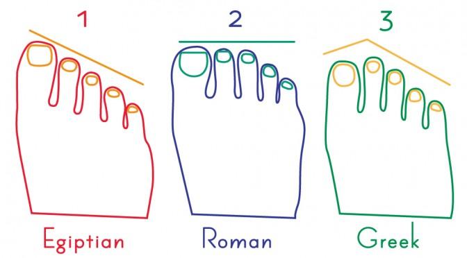 足の指の長さで性格がわかる